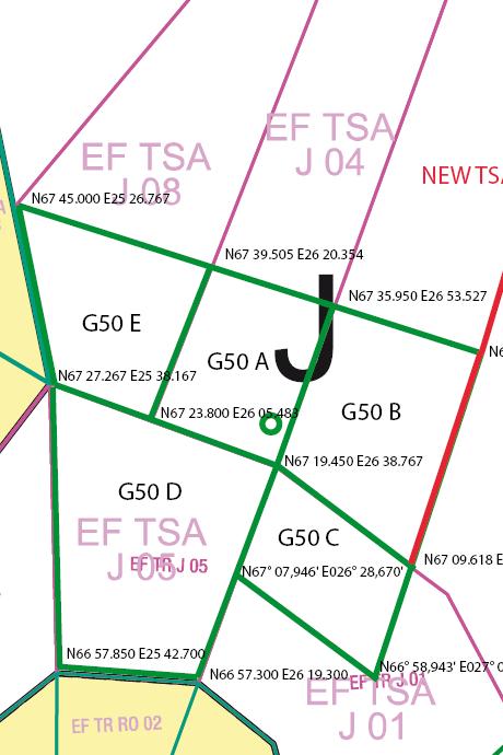 Sodankylä - esitetyt G50 A-E aluelohkot